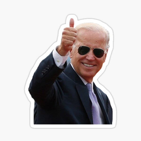 Joe Biden - Aviator Thumbs Up Sticker