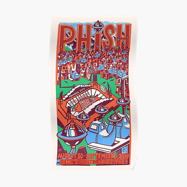 #LIVEPHISH Dicks Sport Goods Park Poster
