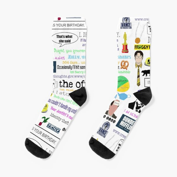 The office collage Socks
