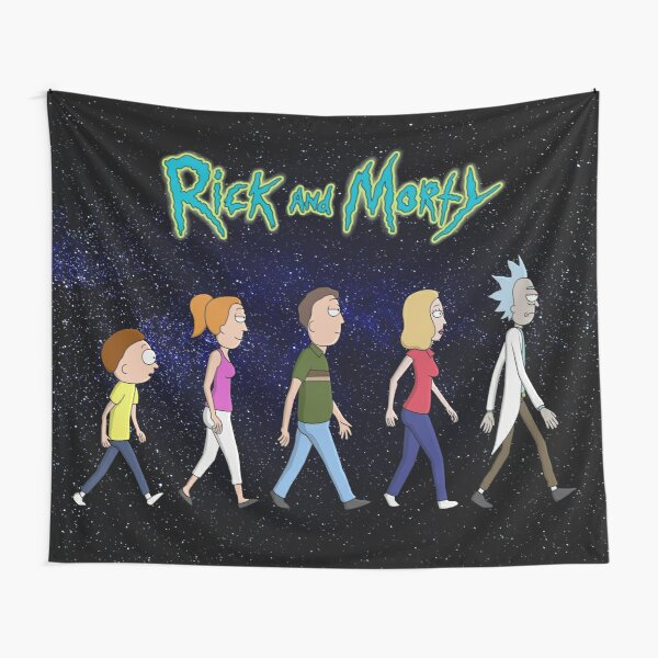Rick and Morty -Family Together Walking Tapestry