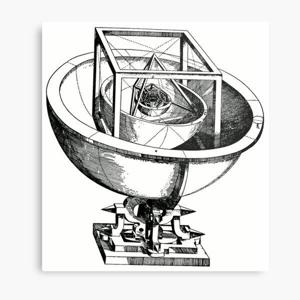 Johannes Kepler model, Radio telescope, illustration, exploration, water, science, vector, design, technology Metal Print