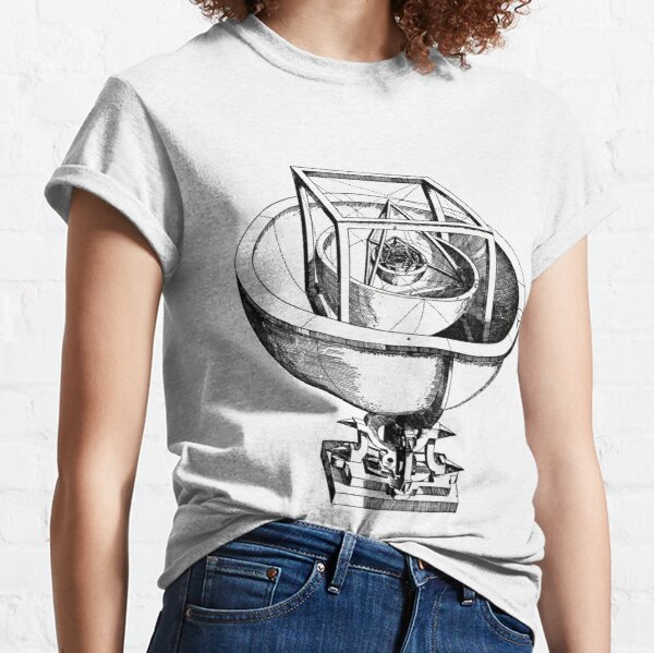 Johannes Kepler model, Radio telescope, illustration, exploration, water, science, vector, design, technology Classic T-Shirt