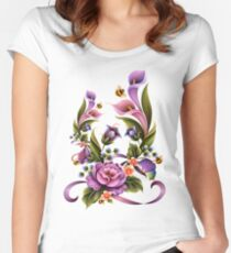 Enchanted Flowers  Women's Fitted Scoop T-Shirt