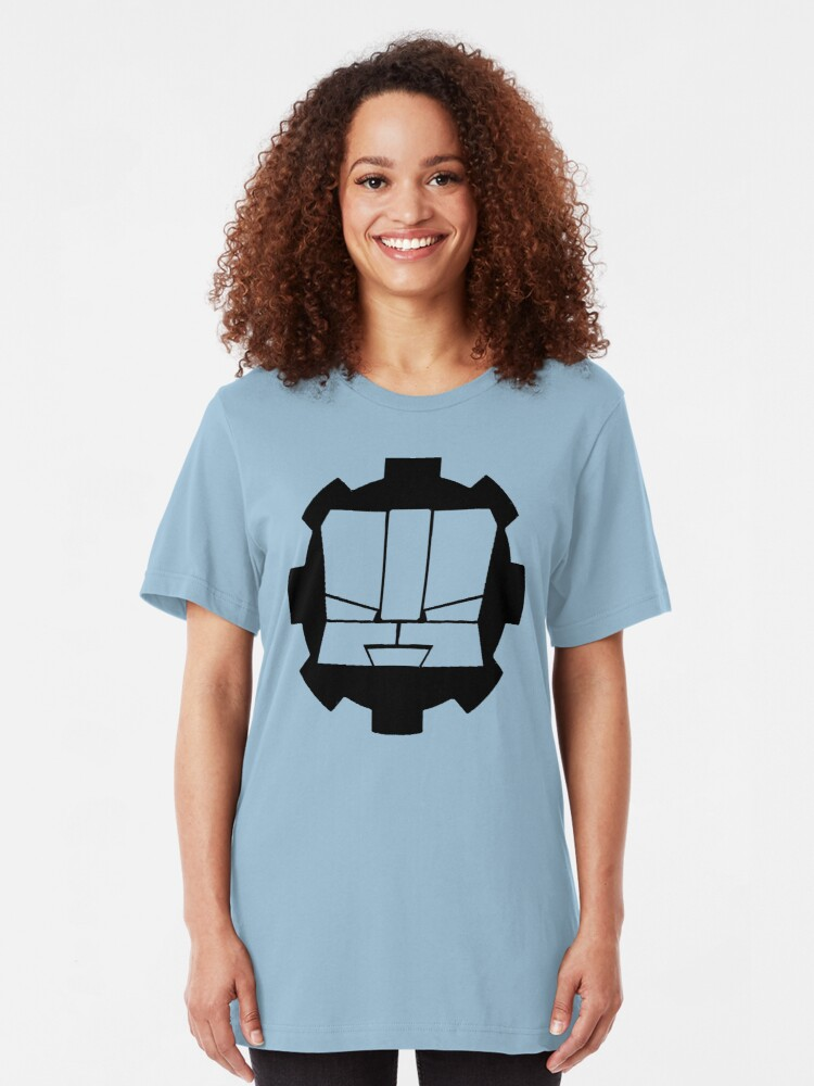 Alternate view of Heroic Gearo Emblem - Black Slim Fit T-Shirt