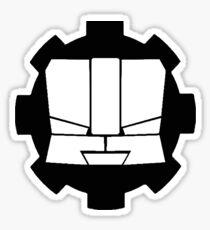 Heroic Gearo Emblem - Black Sticker
