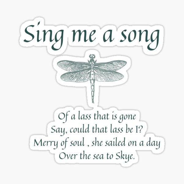 Sing Me A Song Dark Sticker