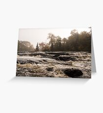 Whiskey River - Rapid Currents and Soft Fog Greeting Card