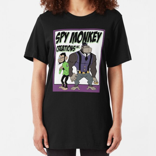 Spy Monkey Creations Inc Logo! Slim Fit T-Shirt