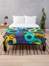 Microscopic Donuts  Throw Blanket
