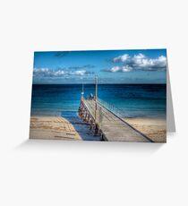 Lone Fisherman - Normanville Jetty, Fleurieu Peninsula, SA Greeting Card