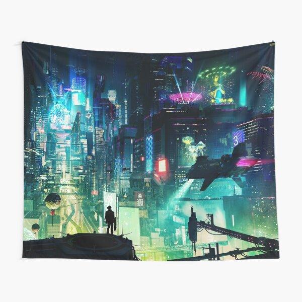 CYBERPUNK CITY Tapestry