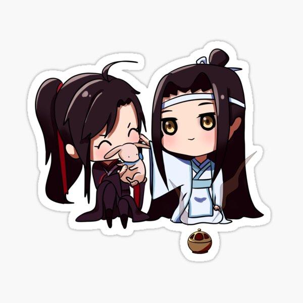 Smol! Lan Zhan y Wei Ying 3 Pegatina