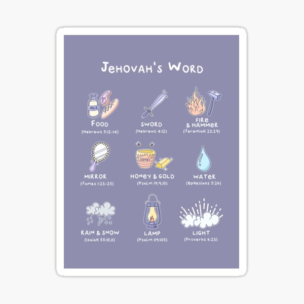 JEHOVAH'S WORD COMPARISON Sticker