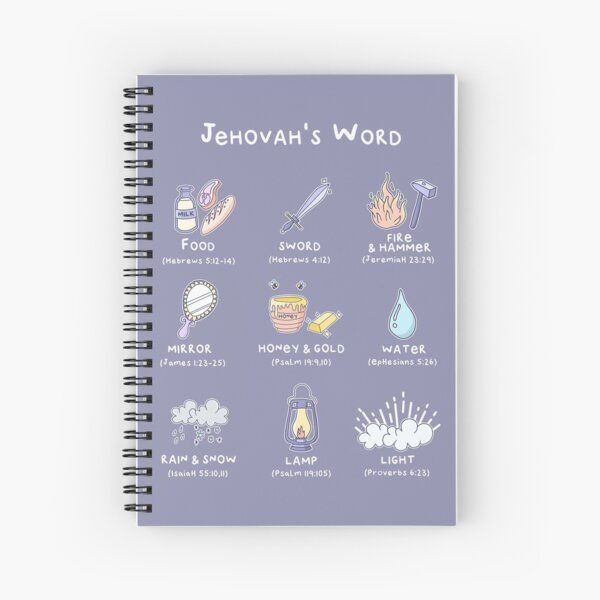 JEHOVAH'S WORD COMPARISON Spiral Notebook