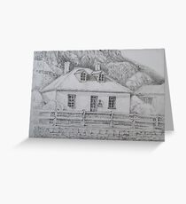 Captain's Cottage Stanley Tasmania by Ian Shiel  Greeting Card