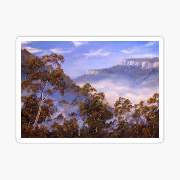 Fog Below The Escarpments Sticker
