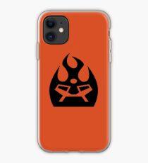 Lava Strike Force Emblem - Black iPhone Case