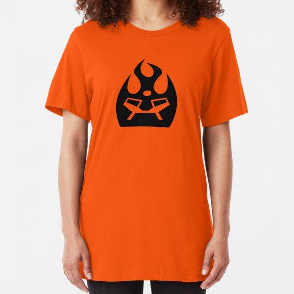 Lava Strike Force Emblem - Black Slim Fit T-Shirt
