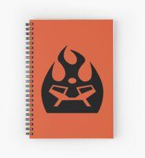 Lava Strike Force Emblem - Black Spiral Notebook