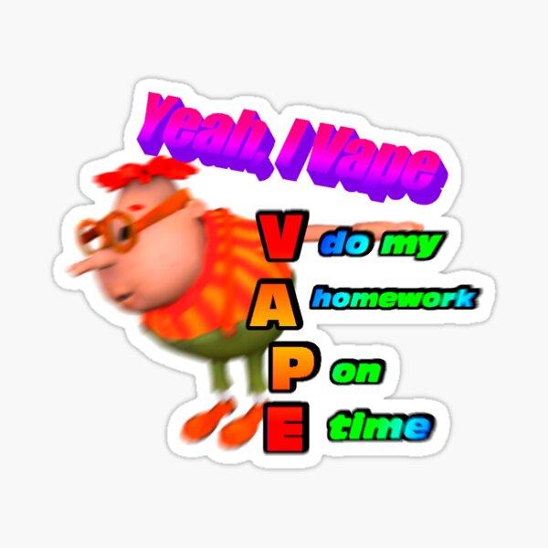 Carl Vapes Sticker