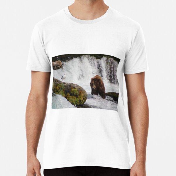Brown Bear & Seagull Fish For Salmon Premium T-Shirt