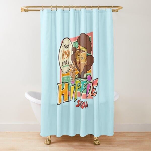 That Gosh Darn Hippie Sleek Logo Shower Curtain