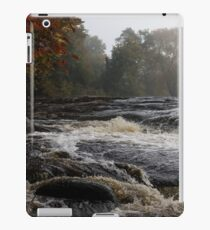 Whiskey River - Foggy Fall Waterscape iPad Case/Skin