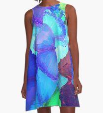 Colorful Magic Butterflies Landscape A-Line Dress