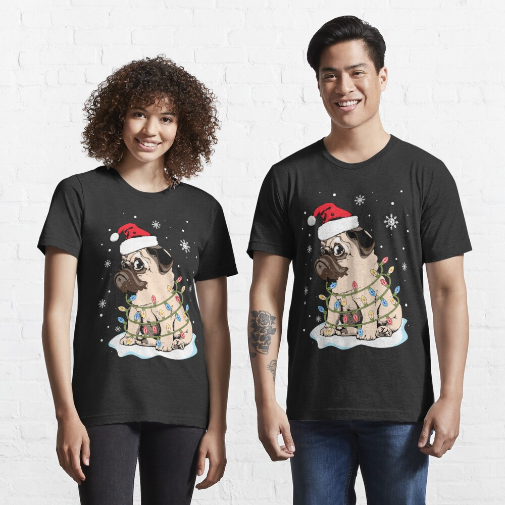 Matching Outfit Funny Merry Christmas Holiday Tee Shirt Just A Woman Who Loves Dogs Xmas Sweatshirt Gift Women/'s Cute Pajamas T-Shirt