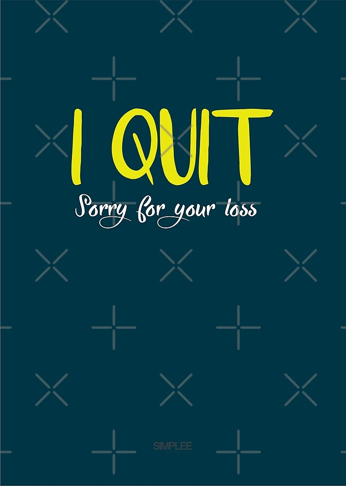 Simplee Cards: I Quit by SimpleeShop