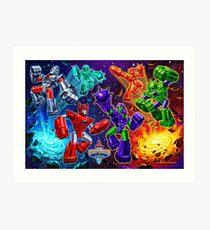 Weaponeers of Monkaa Epic Battle Art Print
