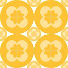Geometric Pattern: Flower Circle: Yellow Light by * Red Wolf
