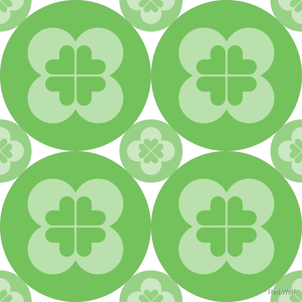 Geometric Pattern: Flower Circle: Green Light by * Red Wolf