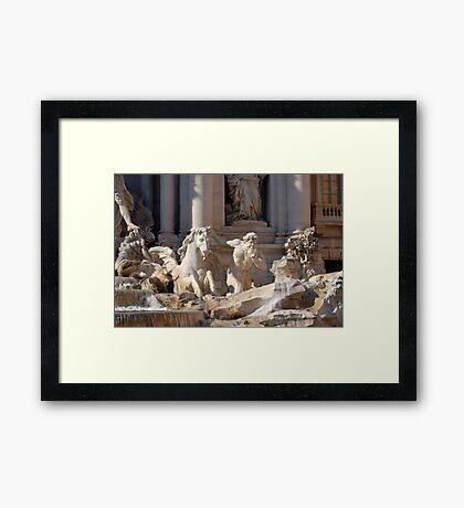 Trevi Fountain - Detail Framed Print