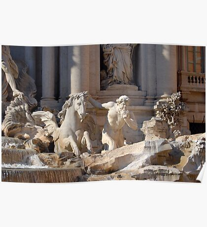 Trevi Fountain - Detail Poster