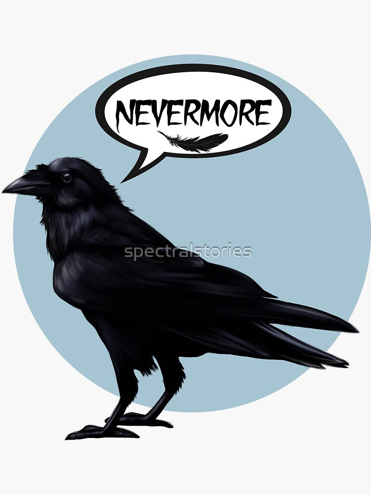 Nevermore raven by spectralstories