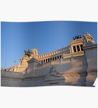 Monument to Vittorio Emanuele - Detail Poster
