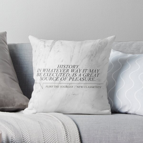 New Classicists Pillow - Pliny #1 Throw Pillow