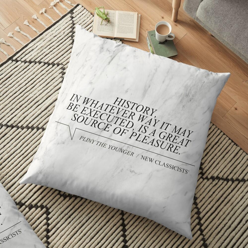 New Classicists Pillow - Pliny #1 Floor Pillow