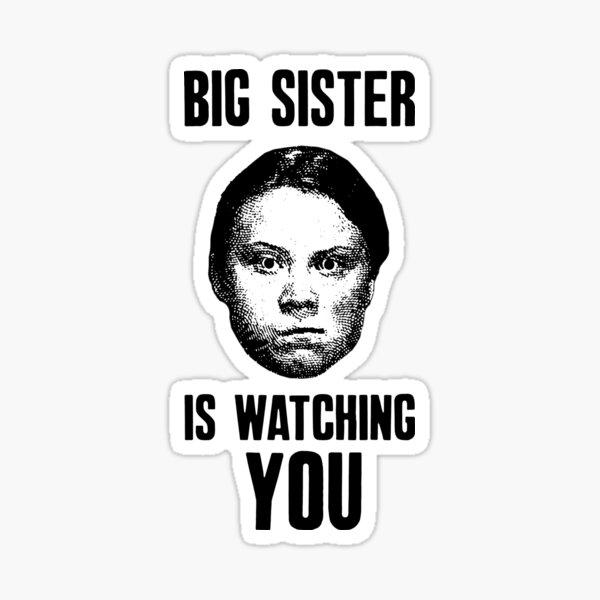Große Schwester beobachtet dich Sticker
