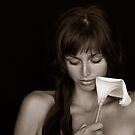 Girl with Calla by Nickolay Stanev