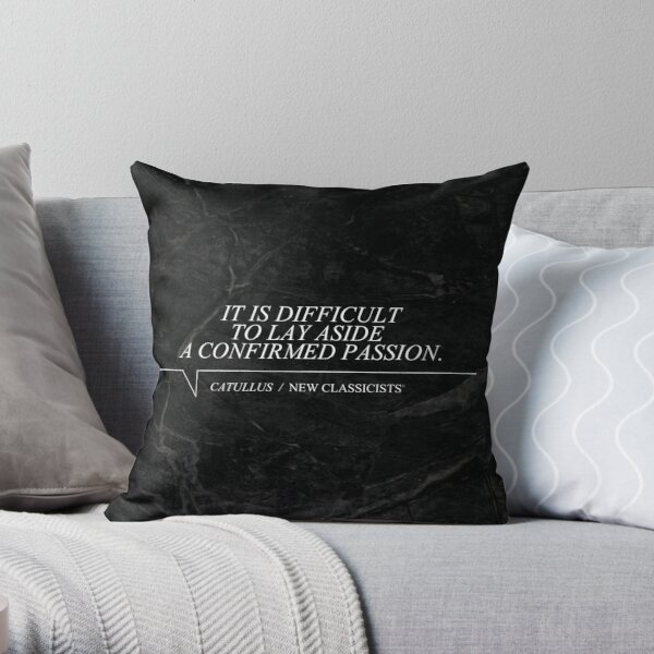 New Classicists Pillow - Catullus #1 Throw Pillow