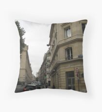 Walking Along the Rue - Paris Throw Pillow