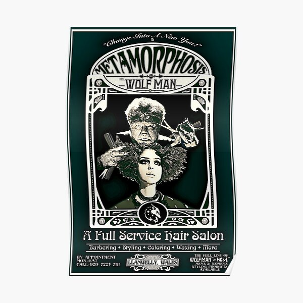 Metamorphosis by The Wolf Man: A Full Service Hair Salon (Vintage) Poster