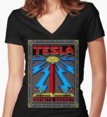 TESLA COIL - INFINITE ENERGY Women's Fitted V-Neck T-Shirt