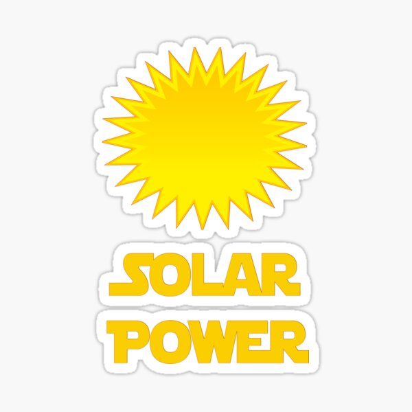 Solar Power Socks Sticker