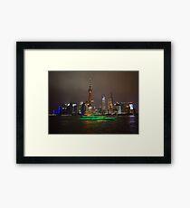 Green Boat Framed Print