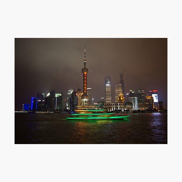 Green Boat Photographic Print