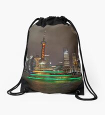 Green Boat Drawstring Bag