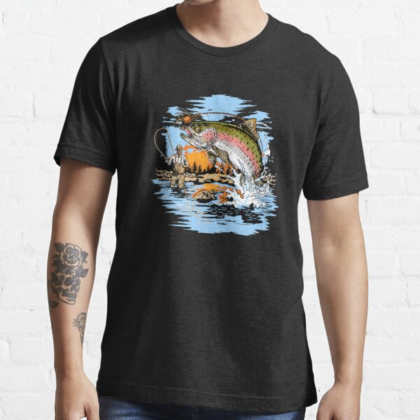 Rainbow Trout Fly Fishing print Essential T-Shirt